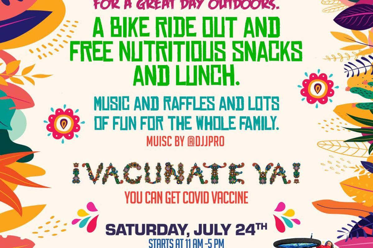 Bike Ride Out. Mission Food Hub. July 24.
