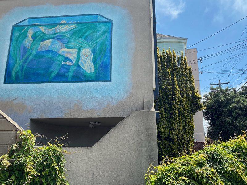 Mermaid mural on Capp Street