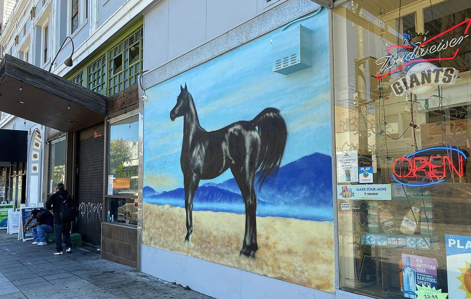 Horse mural on Mission Street