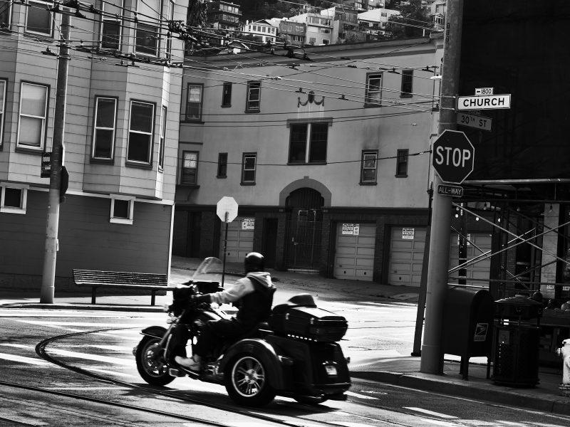 Motorcycle at 30th and Church