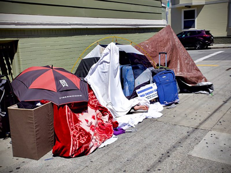 tents on 19th street