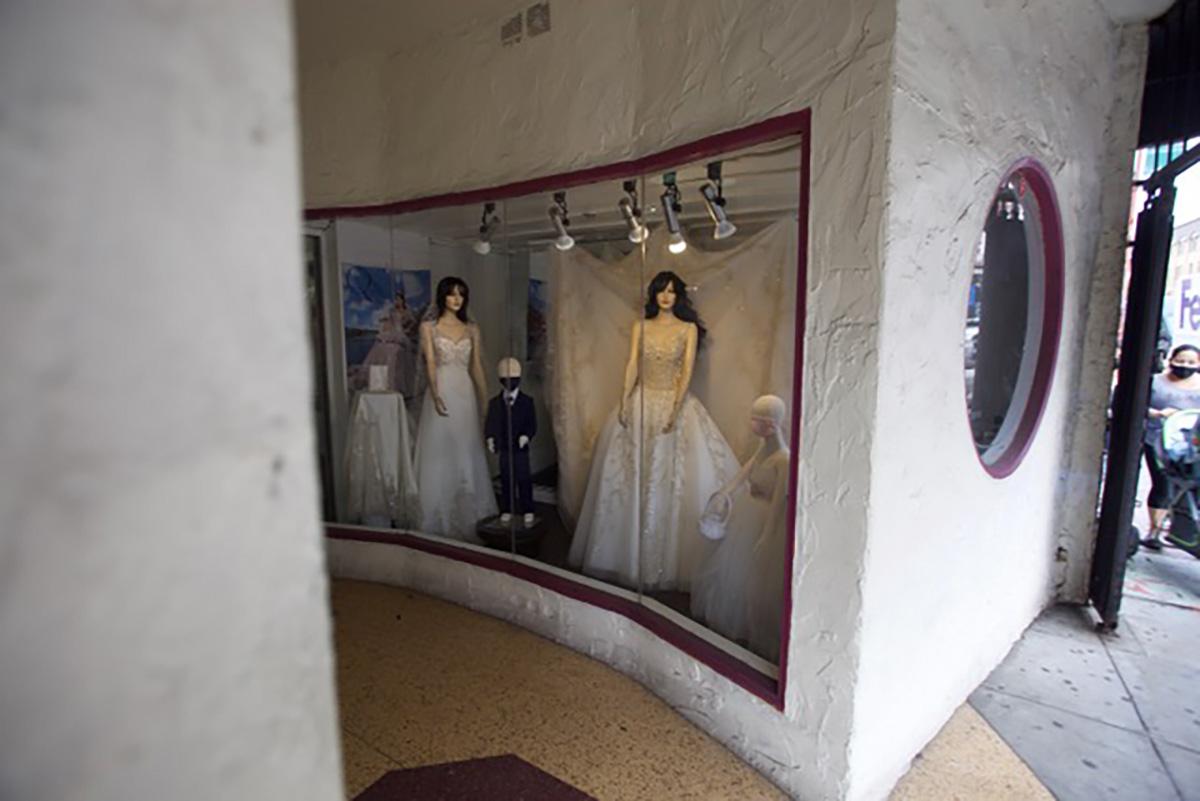 Modern Famly, Bridal wear on Mission Street