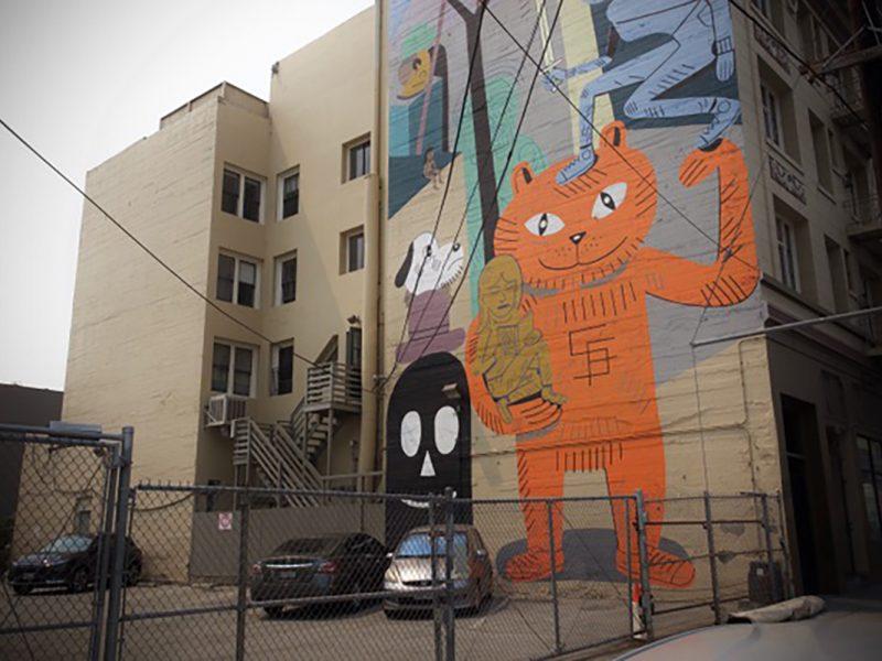Lucky Cat, 26th Street Mural