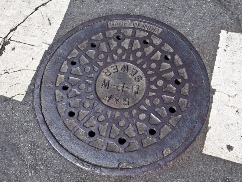Sewer grate on 20th Street