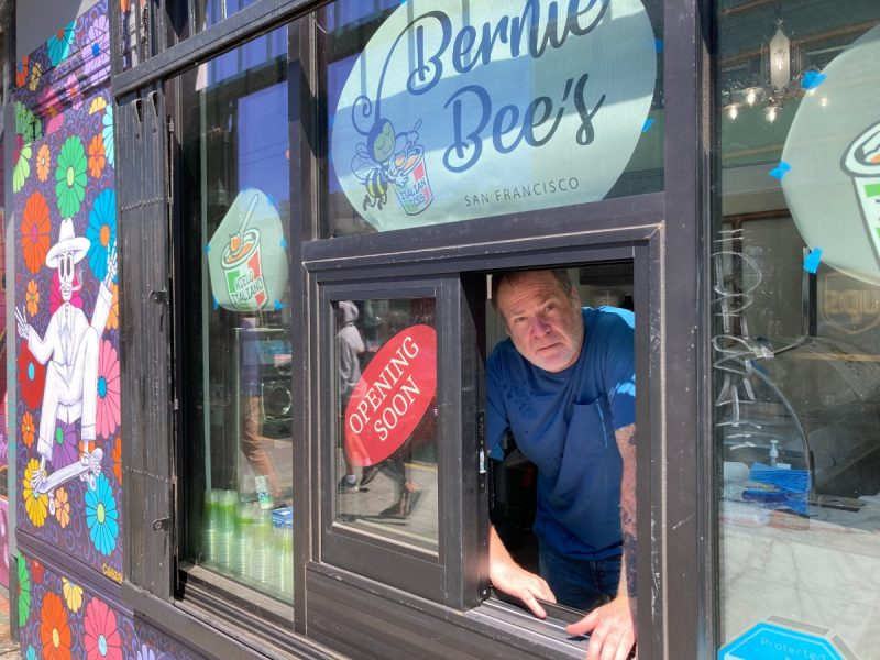Bernie Bee's window