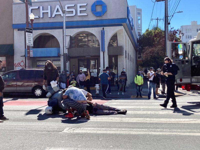 Pedestrian. Incident. EMTs.