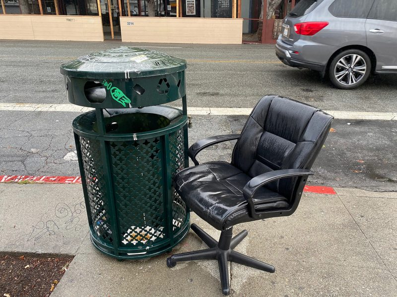 Chair and can on 16th Street