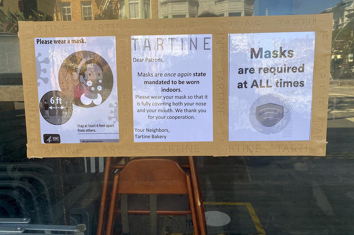 Masks again Tartine