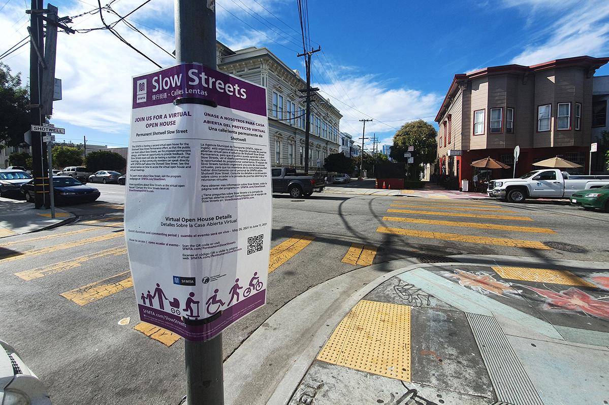 Shotwell Street. Slow Street. Shotwell Slow Street. SFMTA. San Francisco Municipal Transportation Agency.