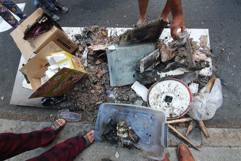 Burned Objects. Fire.