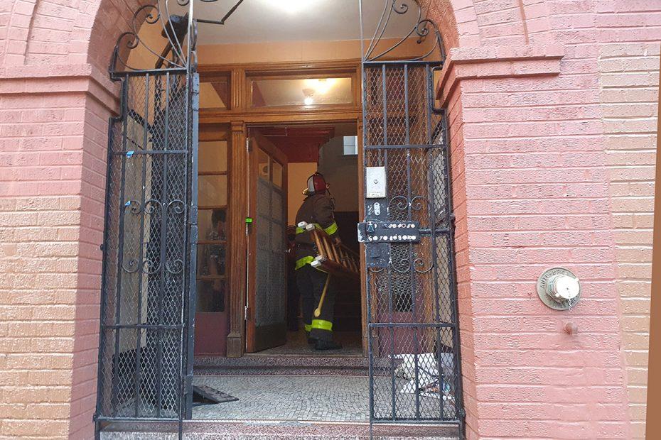 Firefighter. San Carlos Street.