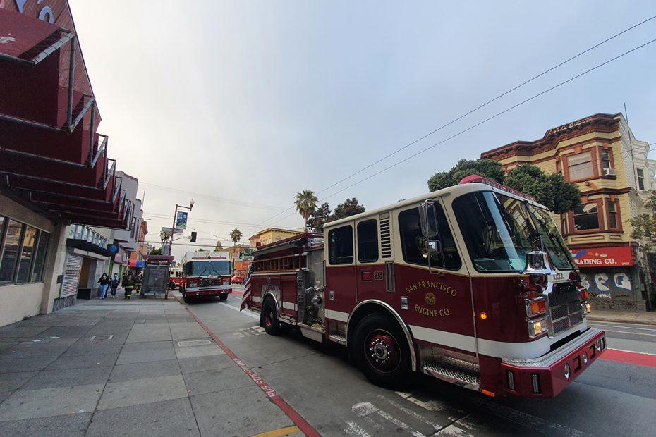 Fire Trucks. Mission Street.