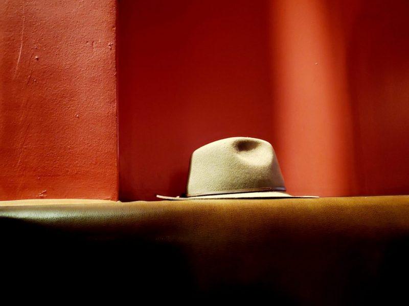 Hat in a bar at Skylark