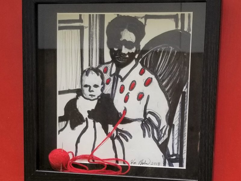 Enslaved African Woman with Child #1 by William Rhodes